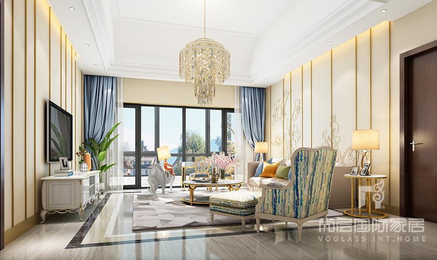 如园客厅软装设计效果图