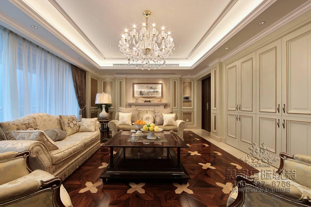 美式现代简约风格客厅软装图片