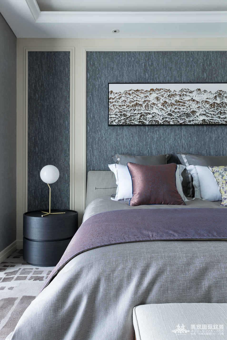 現代風格臥室軟裝設計