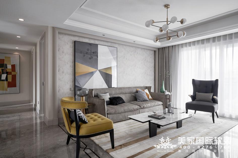 杭州軟裝設計-現代輕奢-客廳
