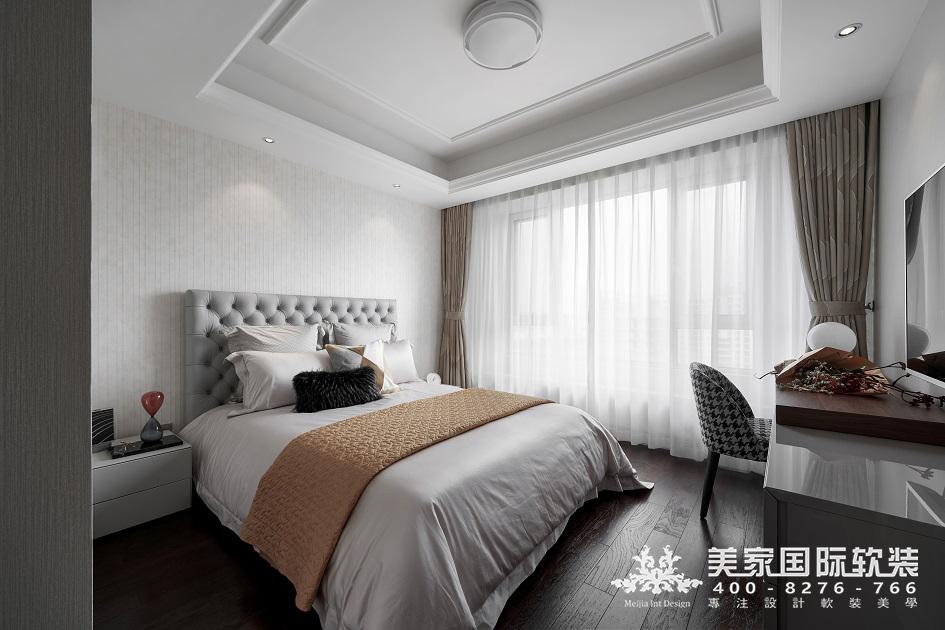 杭州軟裝設計-現代輕奢-主臥