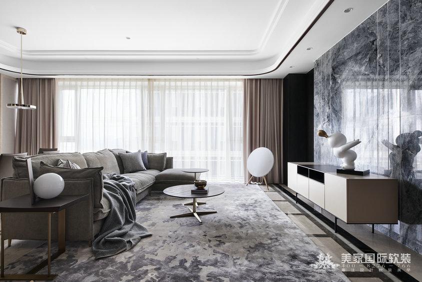 杭州軟裝設計-濱江華家池-現代輕奢風格