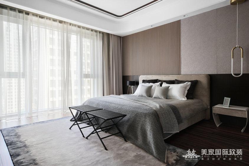 杭州軟裝設計-濱江華家池-現代輕奢風格-主臥設計