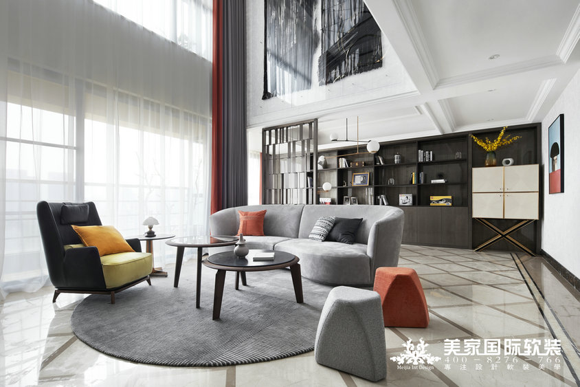 杭州軟裝裝修設計-博學玉府軟裝案例-現代輕奢風格