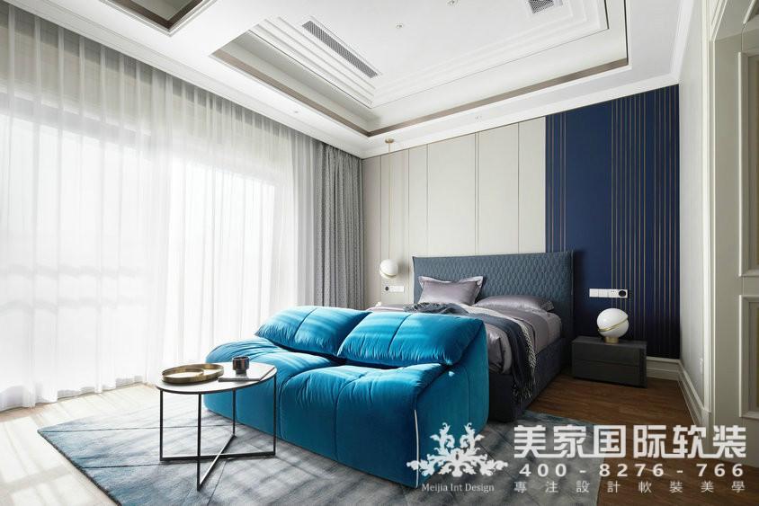 杭州软装装修设计-大奇山郡别墅软装儿子房案例-现代轻奢风格