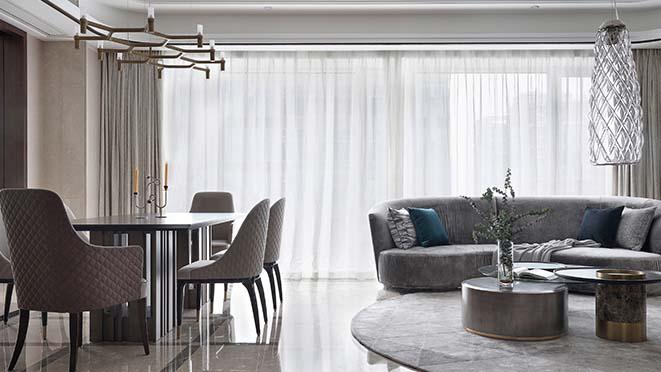 杭州別墅軟裝修設計公司-濱江華家池輕奢風格案例