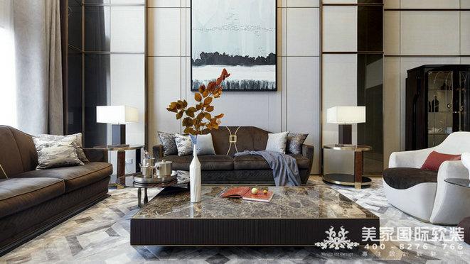 杭州軟裝設計-萬麗璞麗客廳軟裝設計實例