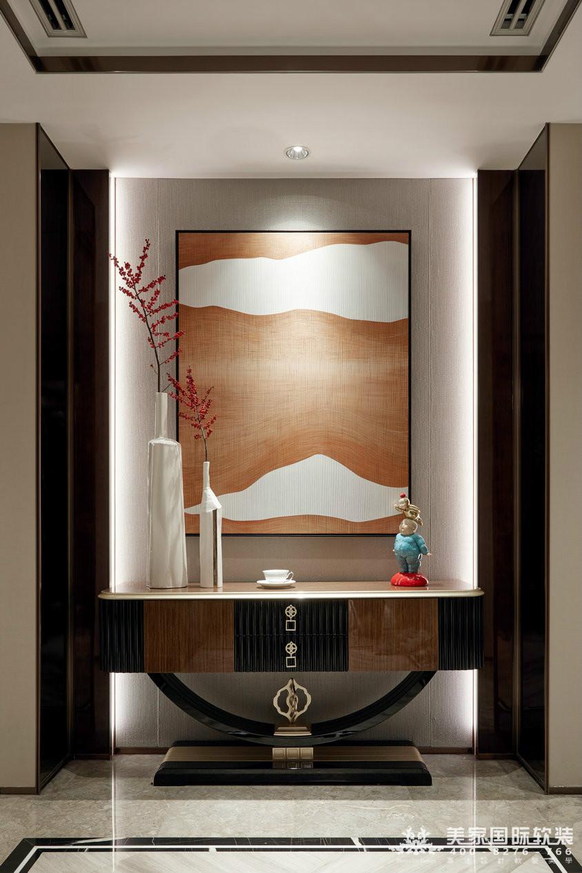 杭州軟裝設計-萬麗璞麗玄關實例