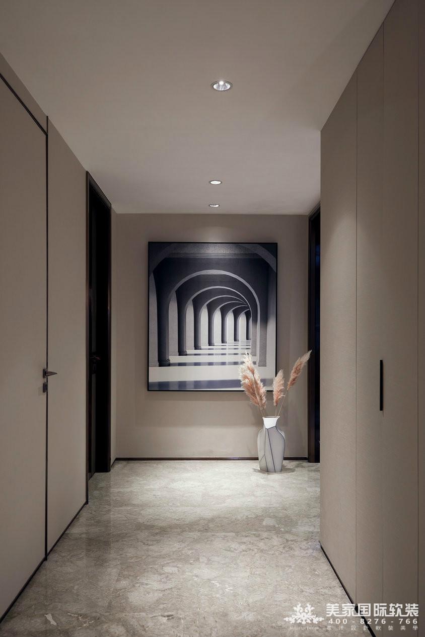 杭州軟裝設計-精裝房軟裝-萬麗璞麗走廊實例