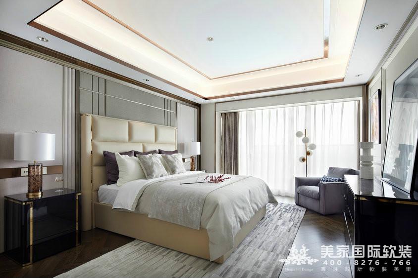杭州軟裝設計-精裝房軟裝-萬麗璞麗主臥軟裝案例