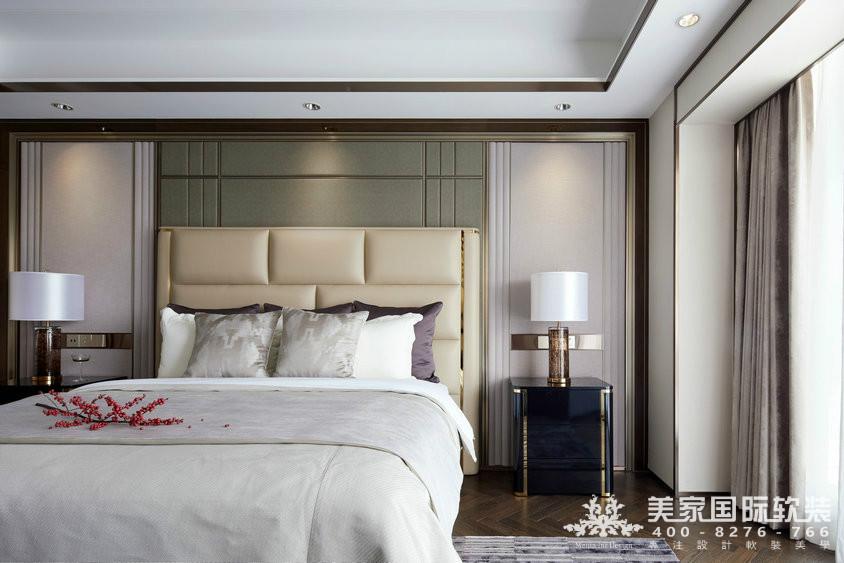 杭州軟裝設計-精裝房軟裝-萬麗璞麗主臥軟裝實例