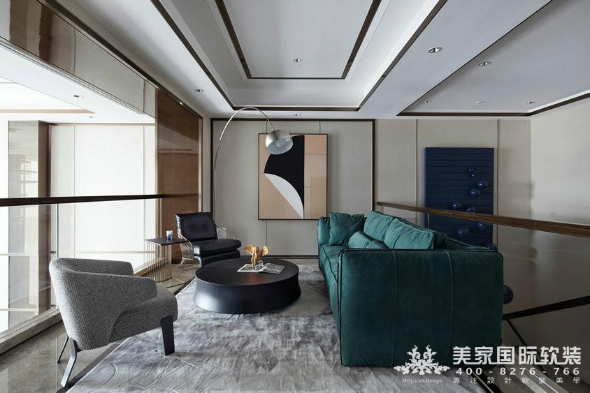 杭州軟裝設計-精裝房軟裝-萬麗璞麗會客室案例