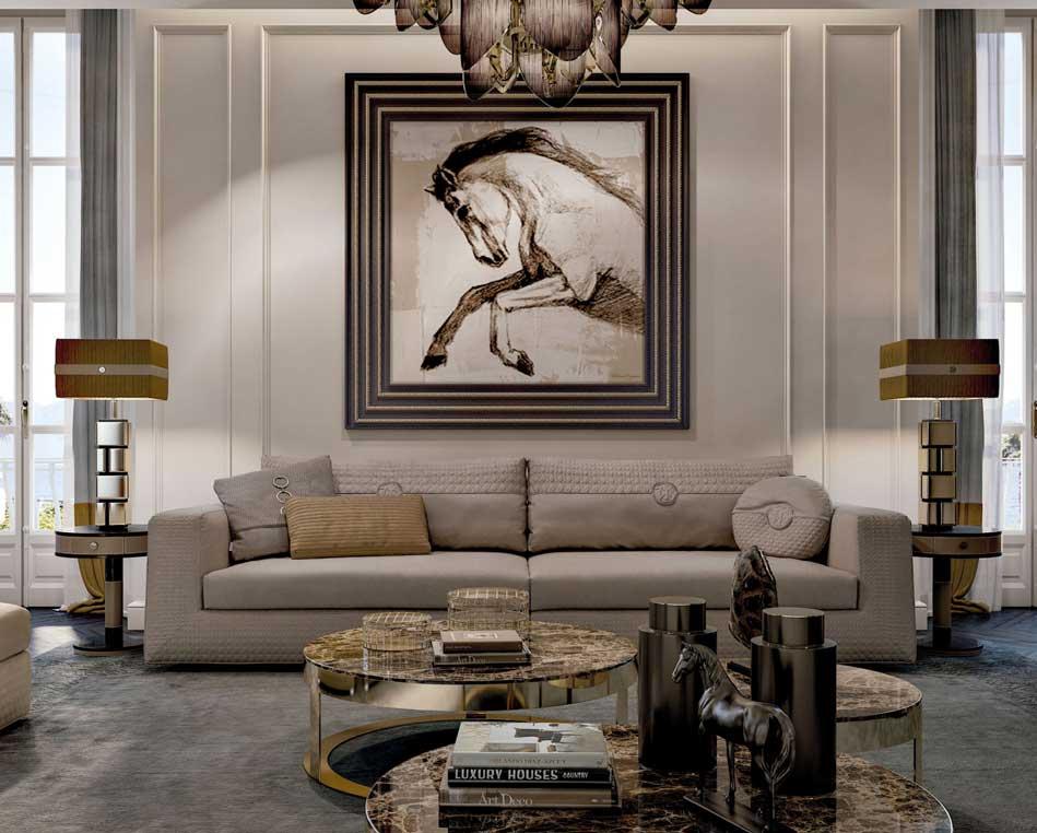 客廳軟裝設計實景案例圖-杭州十大軟裝設計公司
