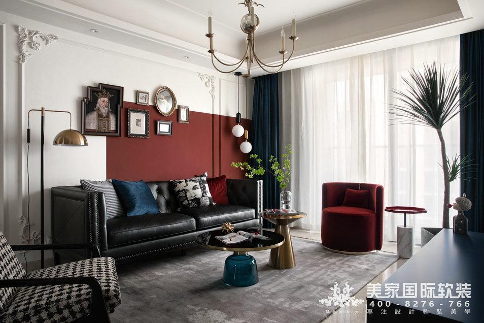 别墅软装设计案例-客厅实景展示