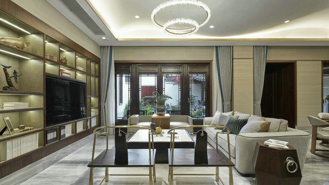 绿城 · 江南里别墅软装设计案例——420㎡新中式