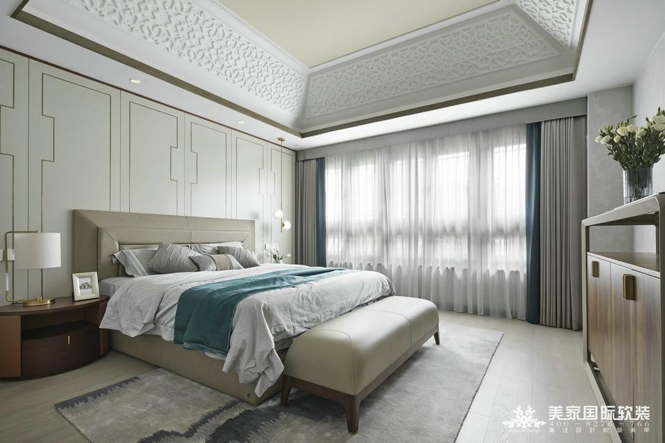 杭州綠城 · 江南里別墅軟裝設計實景案例——主臥實景