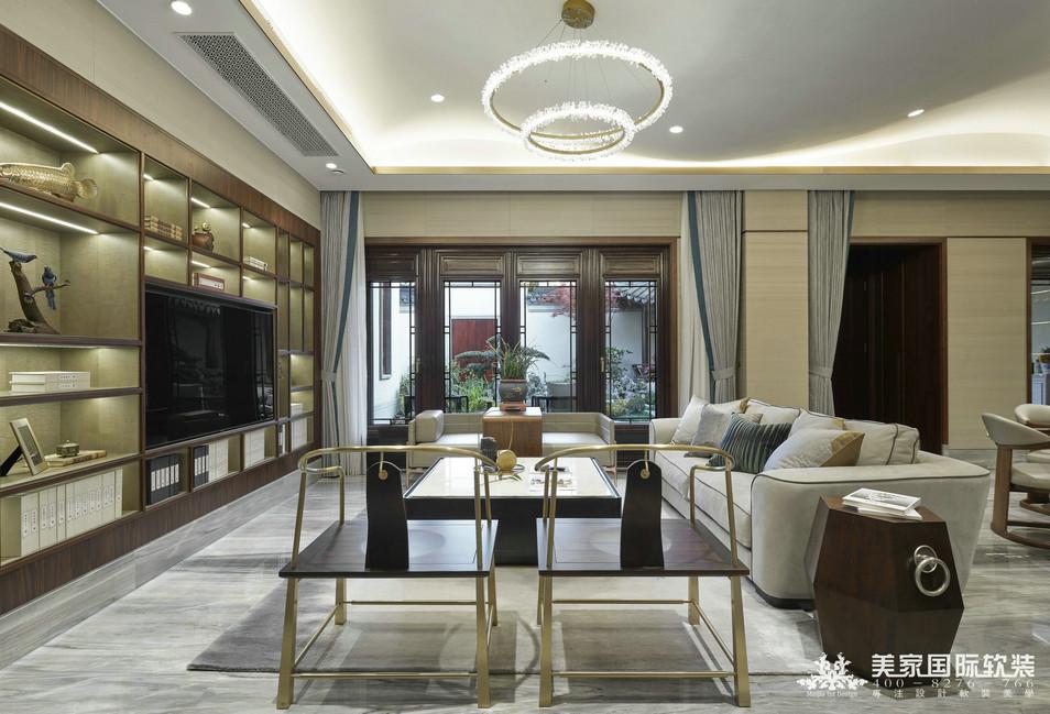 杭州綠城 · 江南里別墅軟裝設計實景案例——客廳實景