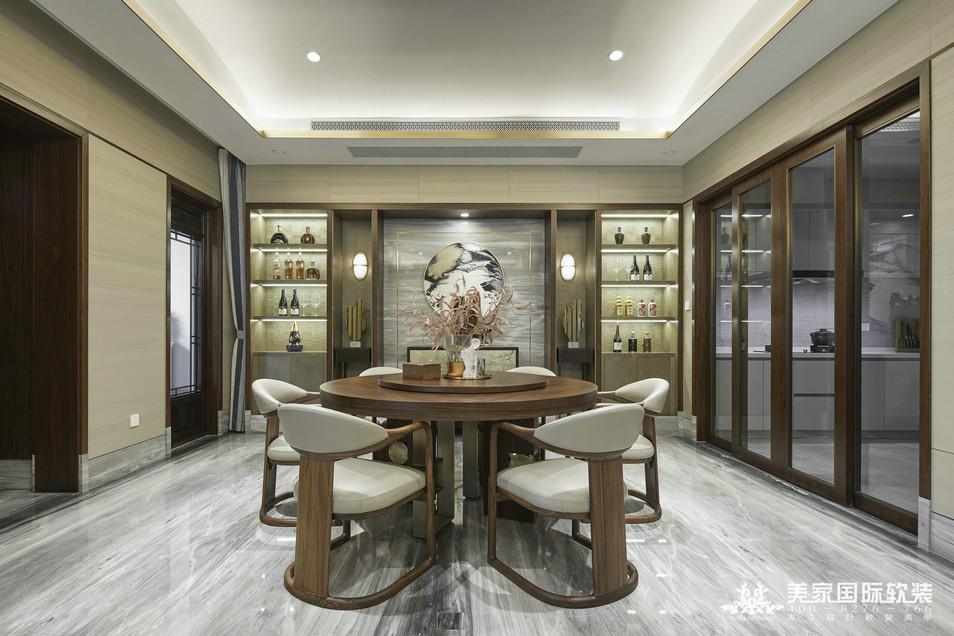 杭州綠城 · 江南里別墅軟裝設計實景案例——餐廳實景
