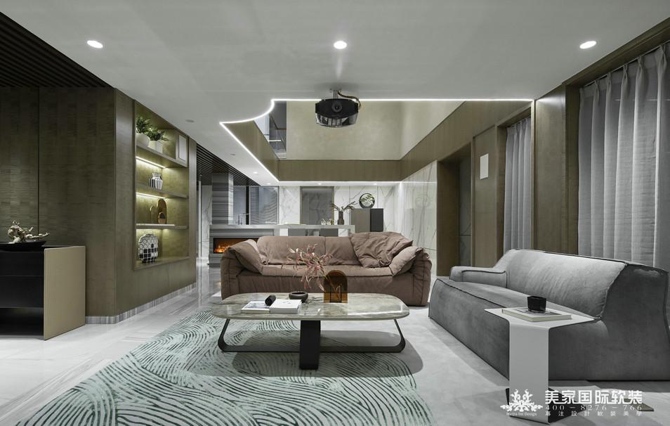 杭州綠城 · 江南里別墅軟裝設計實景案例——負一層實景