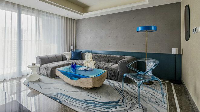 杭州绿城留香园软装修设计实景案例——现代轻奢风格-美家国际软装设计公司