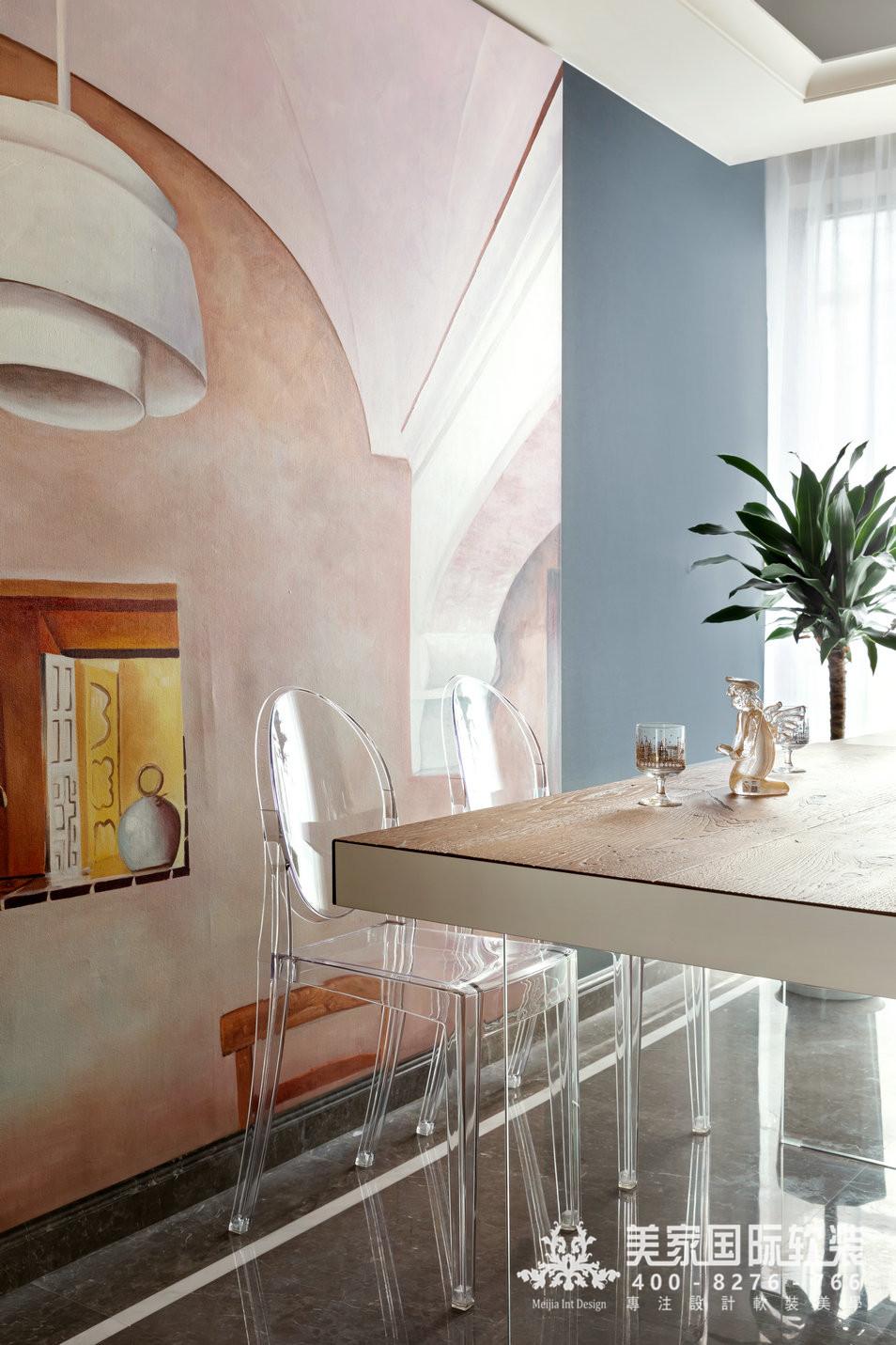 綠城留香園軟裝修設計案例——餐廳實景圖