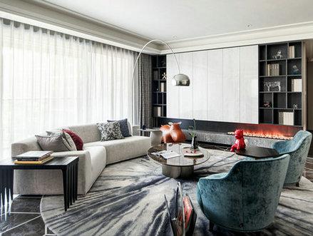 别墅软装案例:信达壹品现代轻奢,恰到好处的精致——杭州美家国际软装设计公司