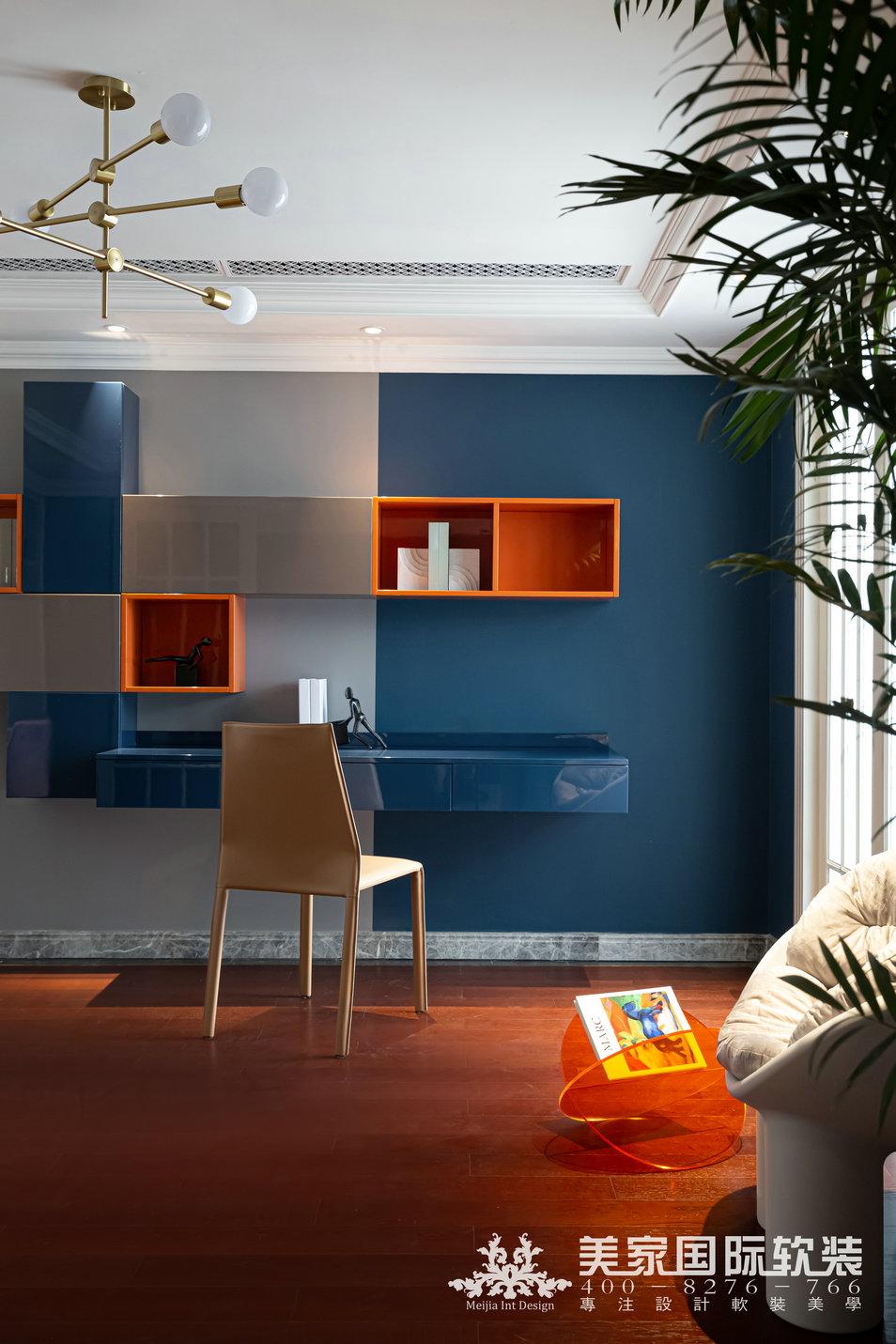 嘉潤公館軟裝設計實景案例——292㎡現代法式書房設計實景圖