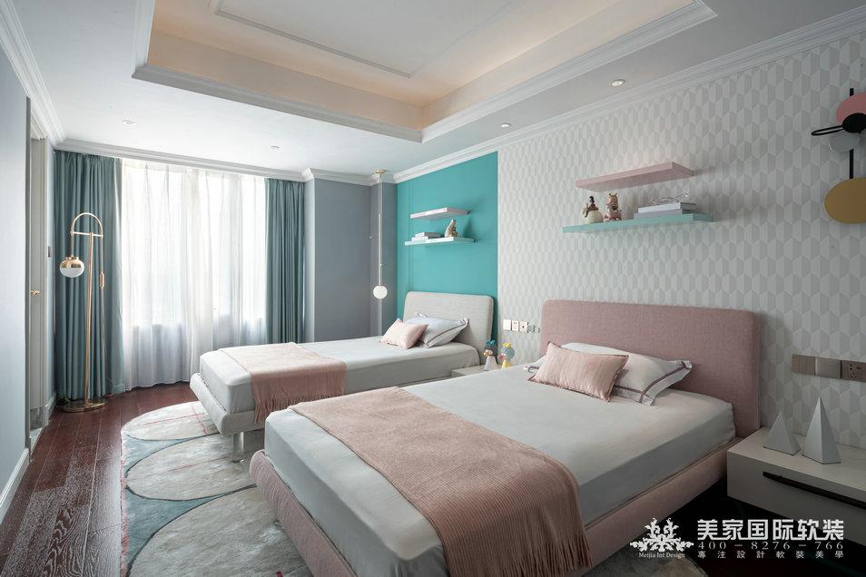 嘉潤公館軟裝設計實景案例——292㎡現代法式兒童房設計實景圖