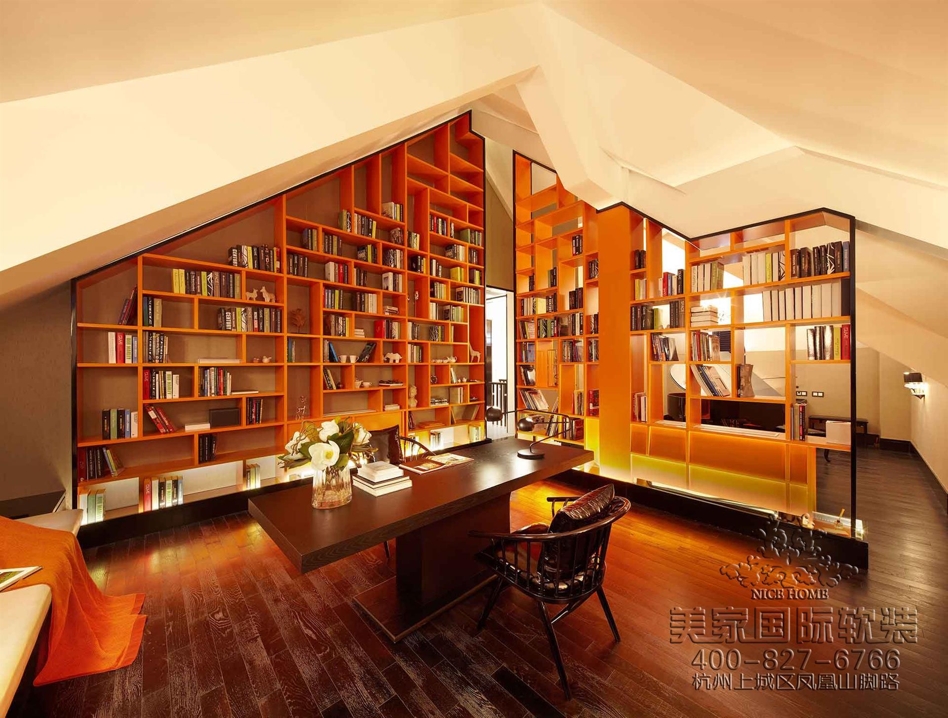 法式風格書房軟裝