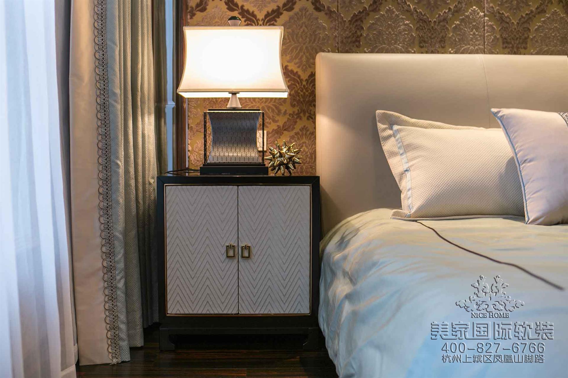 新中式風格臥室軟裝