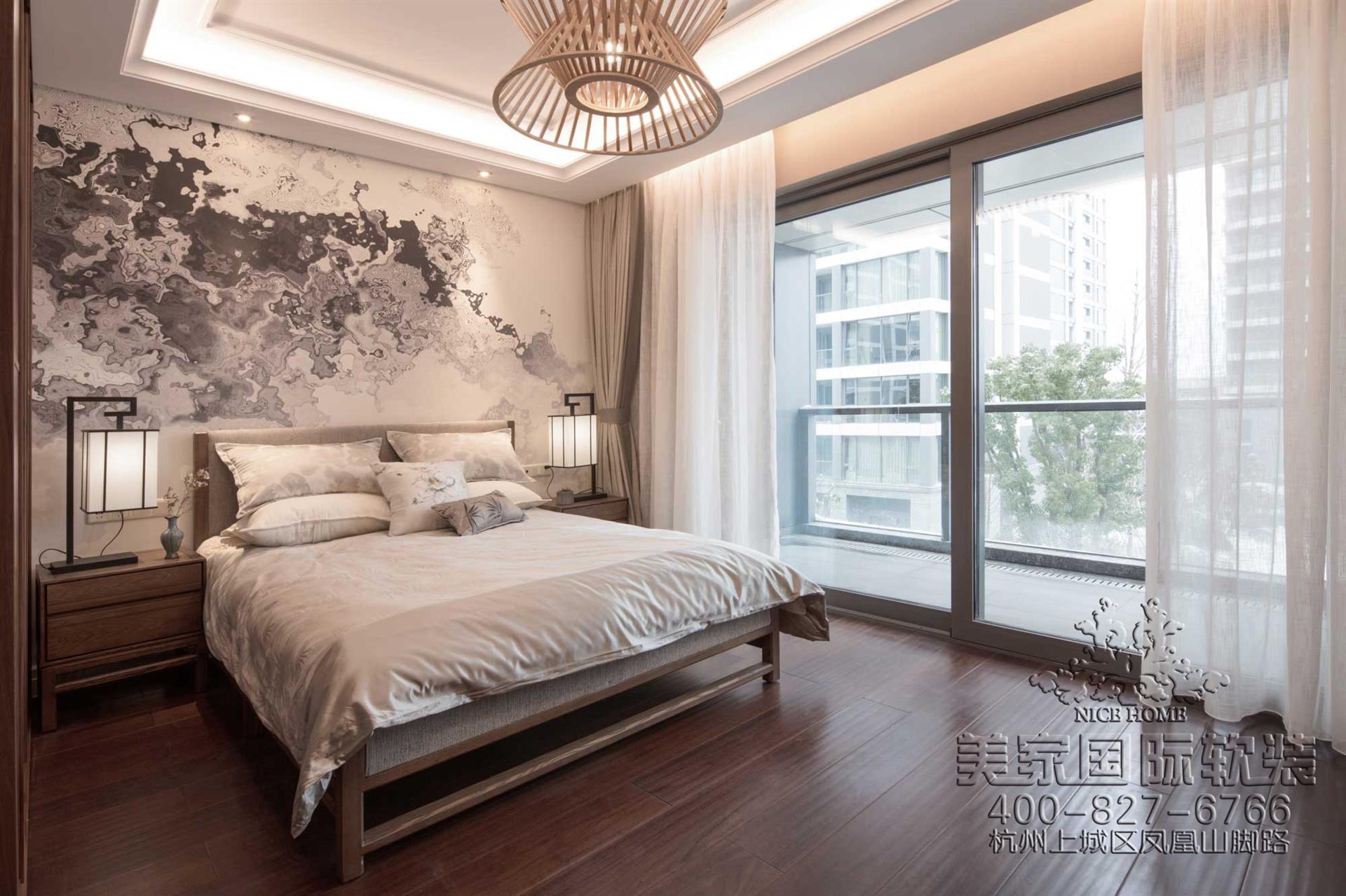 新中式風格客房軟裝