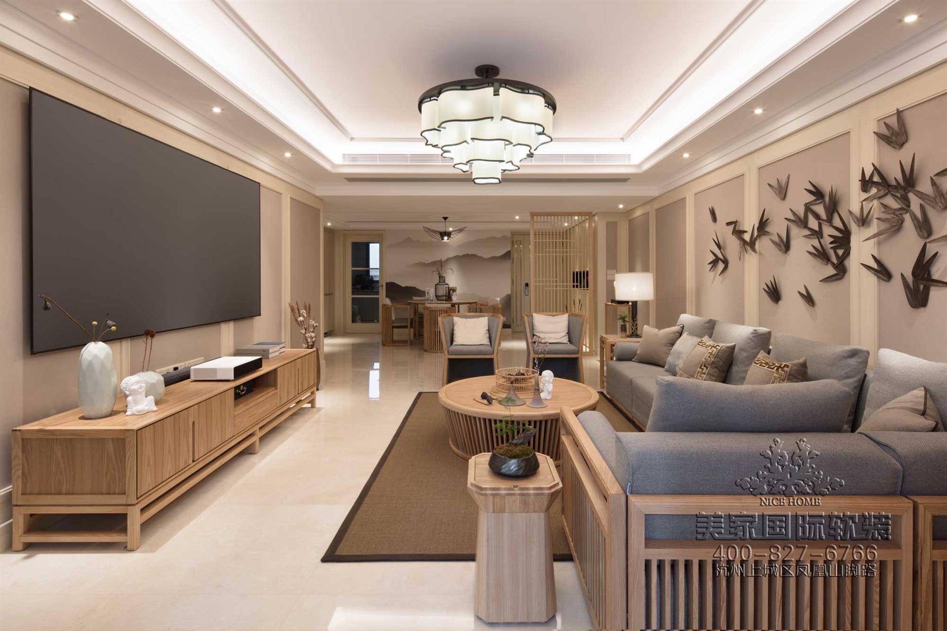 新中式古典風格客廳軟裝